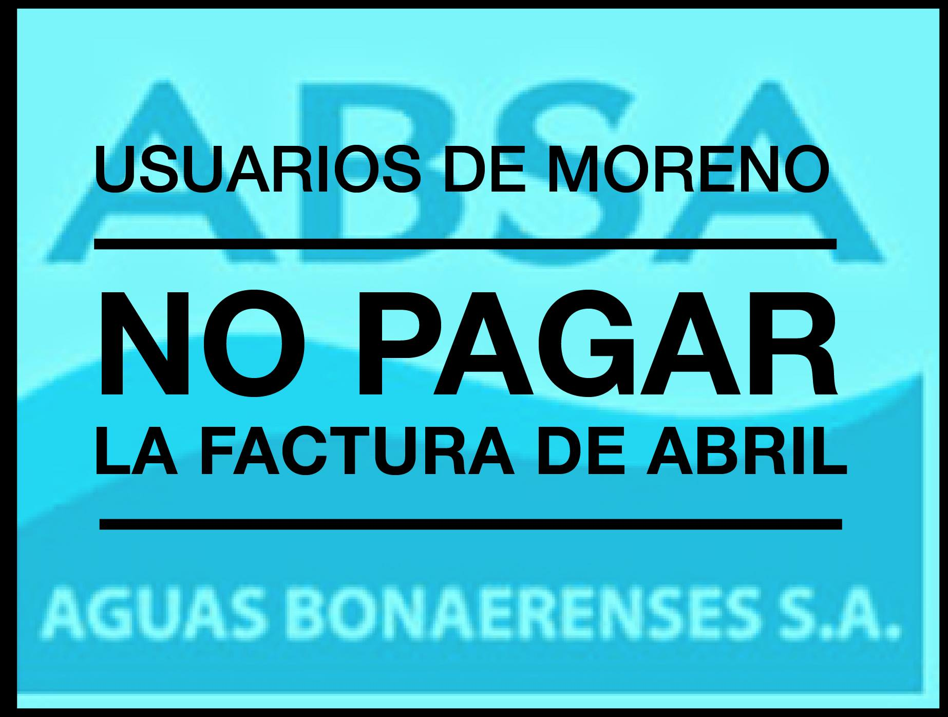 NO PAGAR FACTURA ABSA DEL MES DE ABRIL