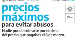 PRECIOS MAXIMOS